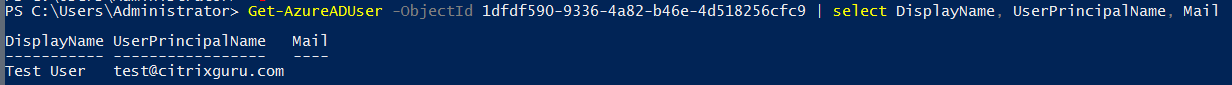 AD Azure - Show user attributes in PowerShell