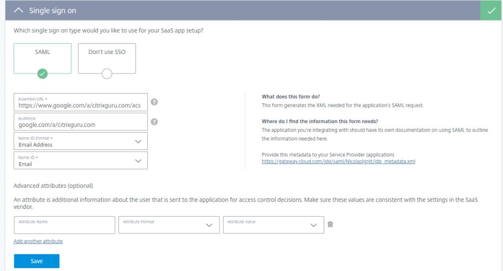 Citrix Cloud - Access Control
