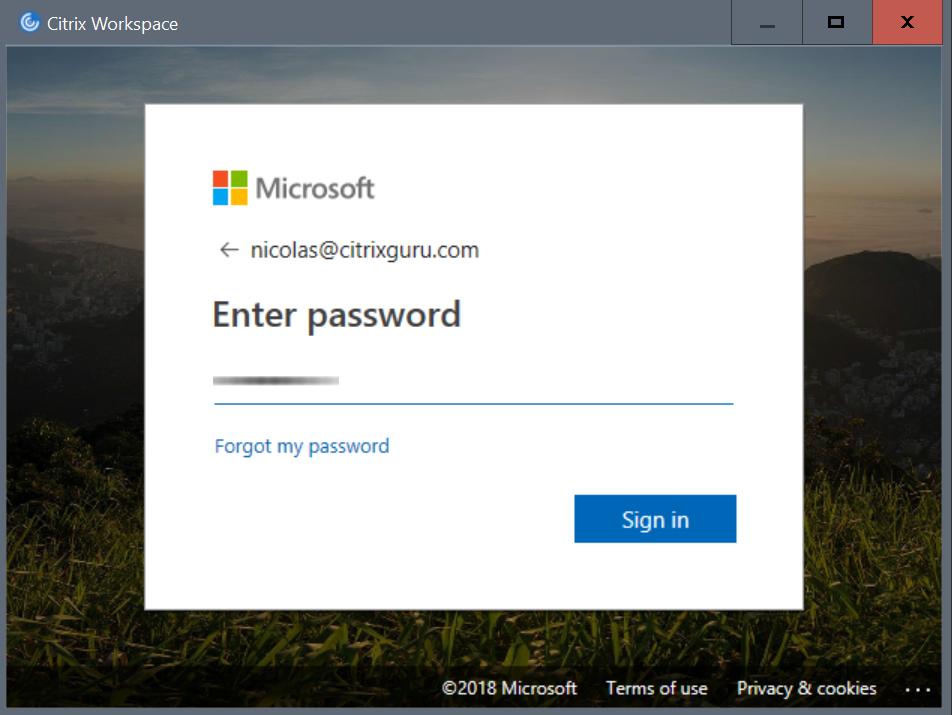 Citrix Workspace - MFA configuration Password