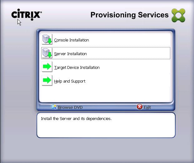 Select Server Installation