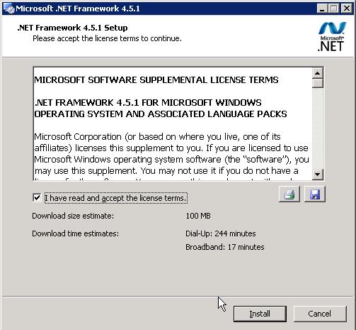 Install .NET 4.5.1