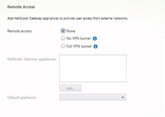 No Remote Access configuration