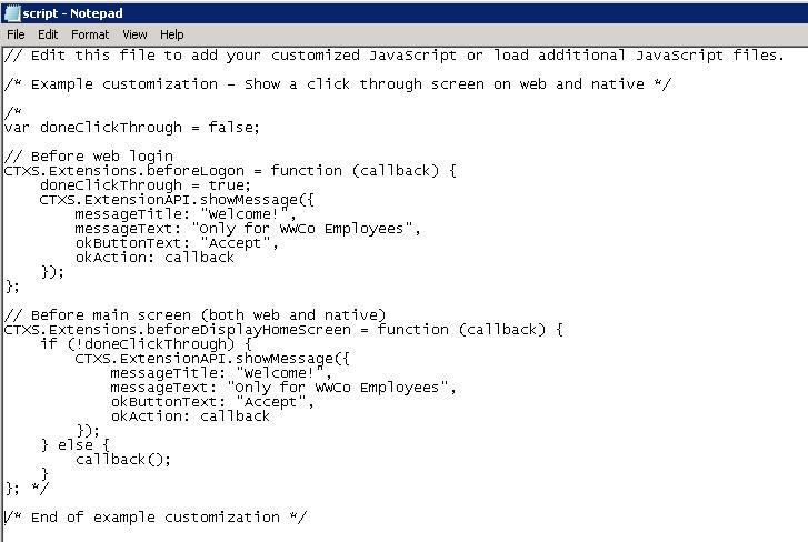 script.js default content