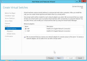 Hyper-V Network Configuration
