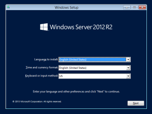 Windows Server 2012 R2 Installation