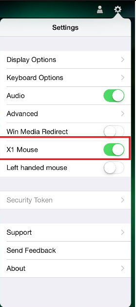 Turn the mouse ON in the Receiver