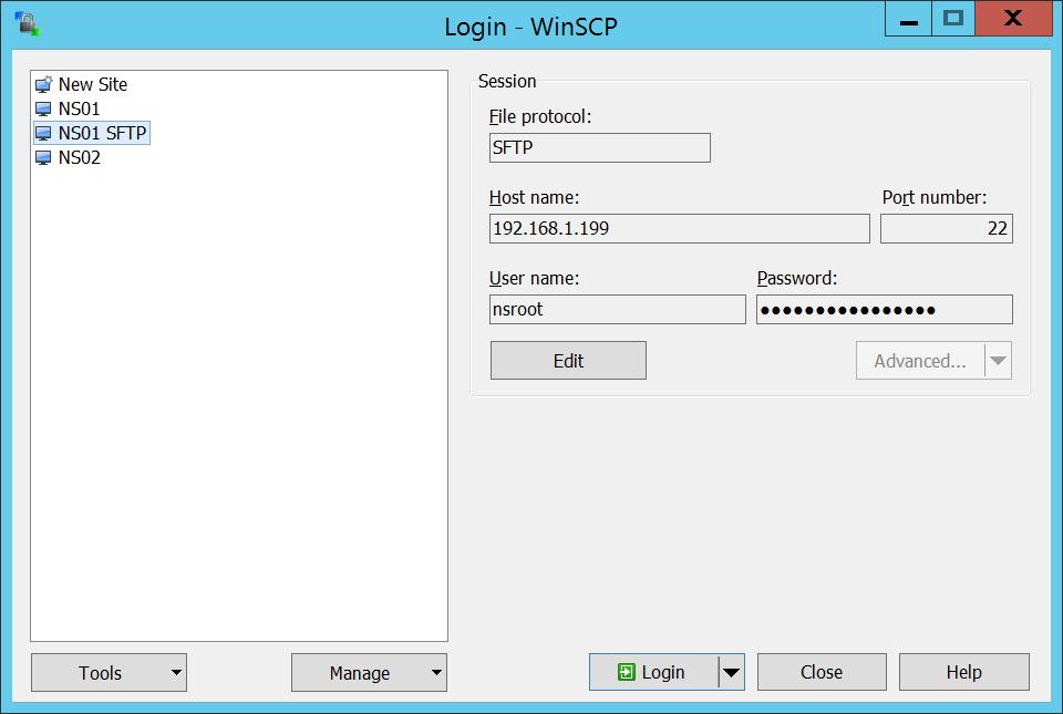 SFTP - NetScaler - Step 01