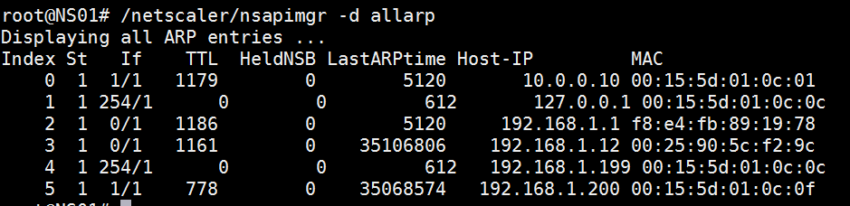 Show ARP Table