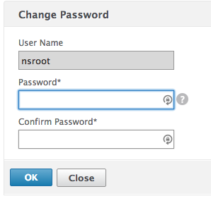 Step 14 - Change default nsroot password