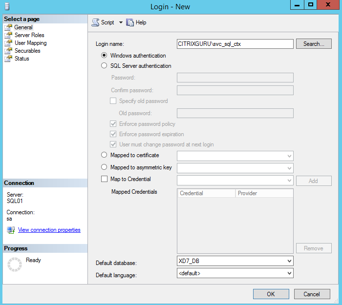 Add permissions for service account 1/4