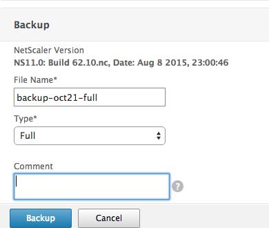 NetScaler Backup 2