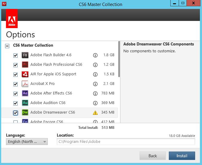 Adobe CS6 Install