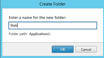 Enter the name of the folder