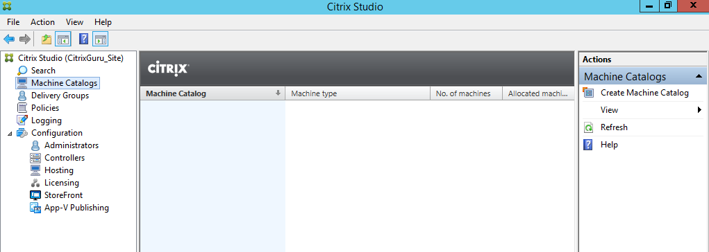 Open Citrix Studio