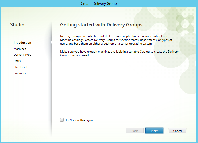Create delivery group