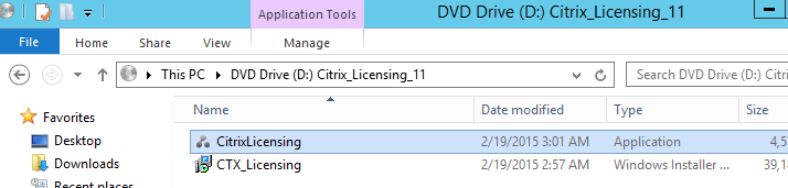 Select CitrixLicensing.exe