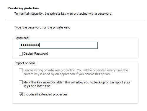 Import Certificate 2