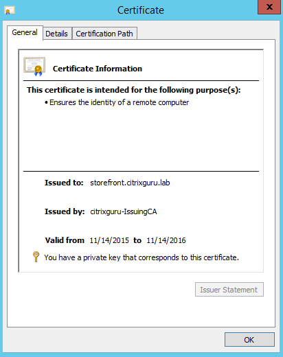 Validate certificate import