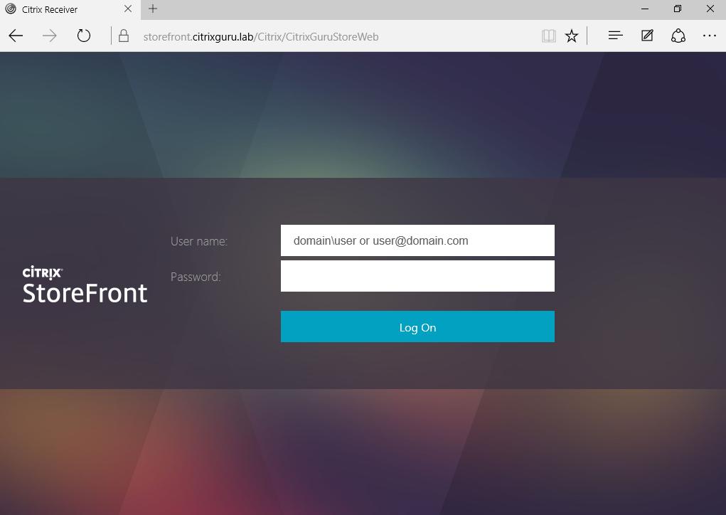 Navigate to SSL StoreFront
