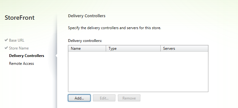 Configure Delivery controllers