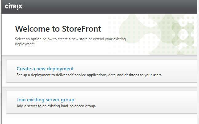Select Join existing server group