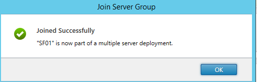 Server joined