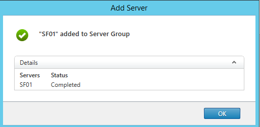 Server joined