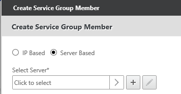 Create service group member