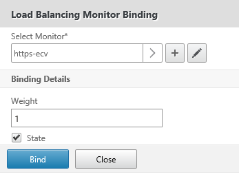 Bind monitor to service group
