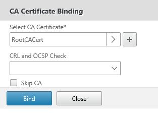 Bind Root CA