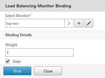 Select TCP ECV monitor
