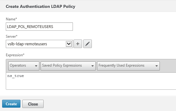 Create ldap policy for users