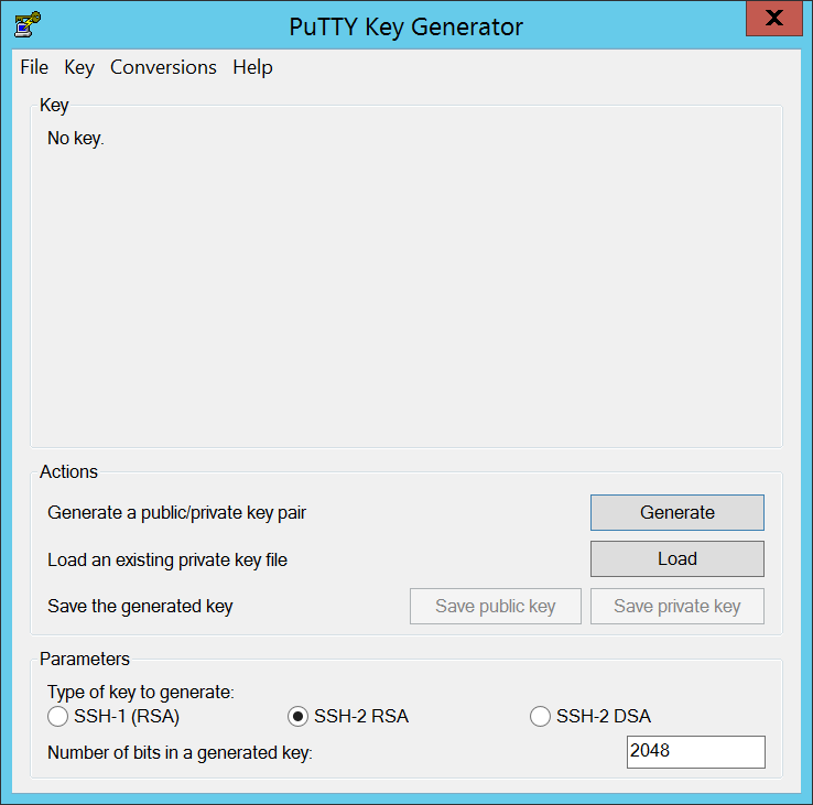Putty key generator