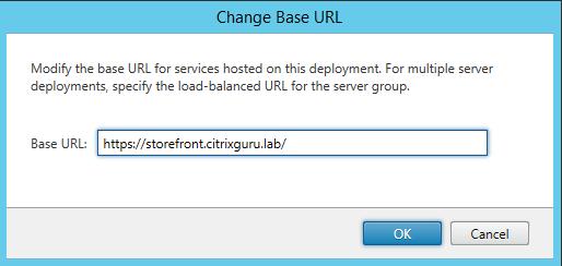 Configure Base URL