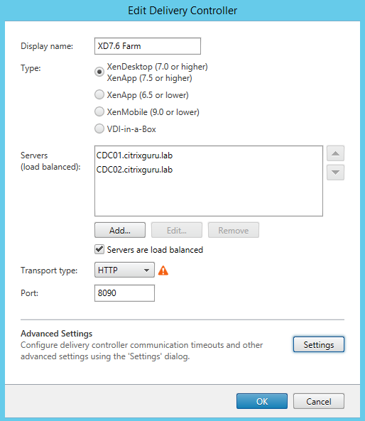 Configure Delivery Controller 01