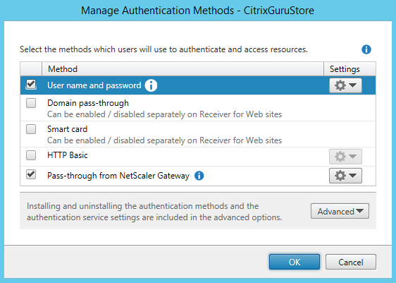 Configure Authentication methods 01