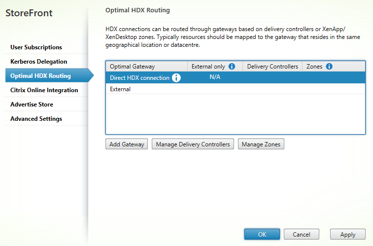 HDX routing