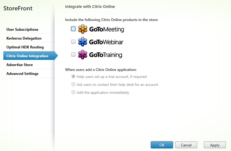 Citrix online integration