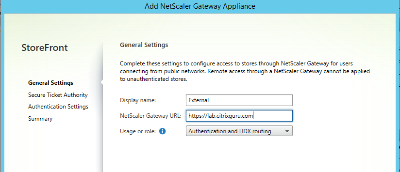 new Gateway appliance
