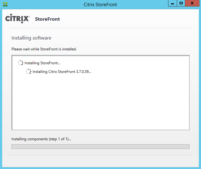 Citrix StoreFront 3.7 Upgrade 2/3