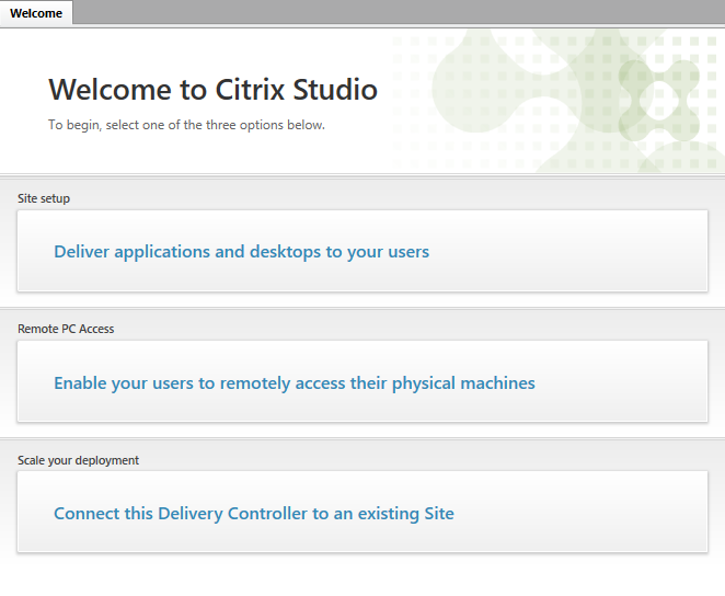 Citrix Studio console