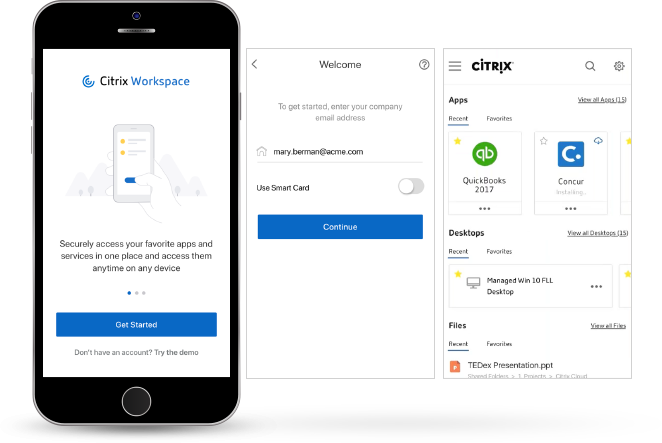 Citrix Workspace mobile support