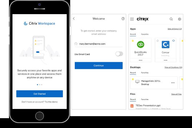 Citrix Workspace mobile support
