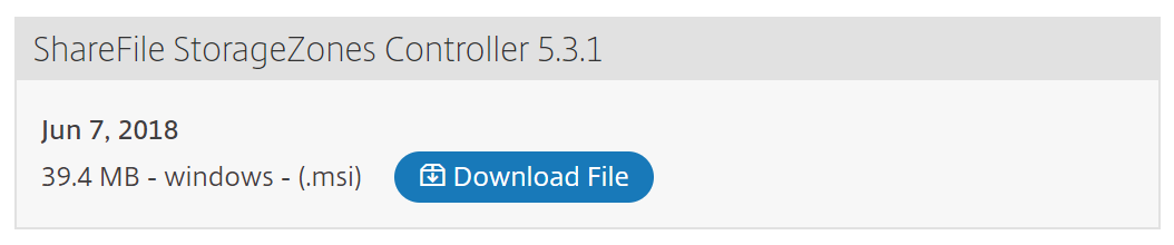 Citrix ShareFile StorageZones Controller download