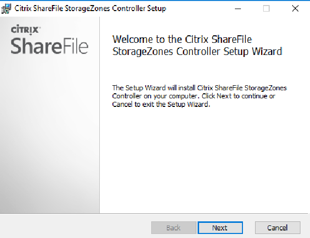 Citrix ShareFile StorageZones Controller setup 01