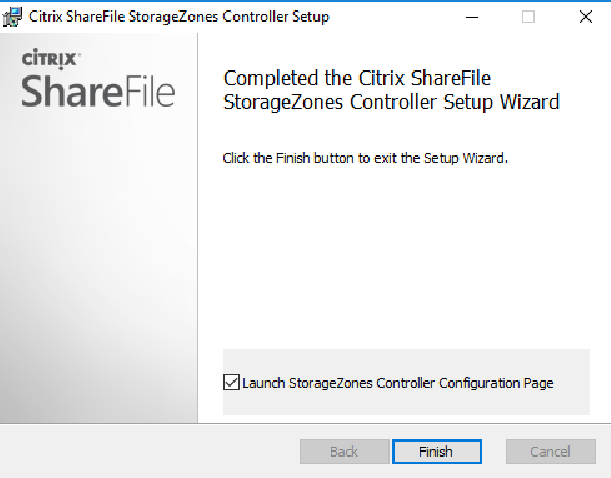 Citrix ShareFile StorageZones Controller setup 03