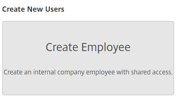 ShareFile - create a new user