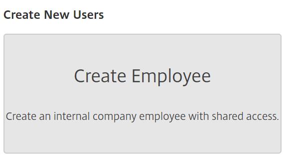 ShareFile - create a new user