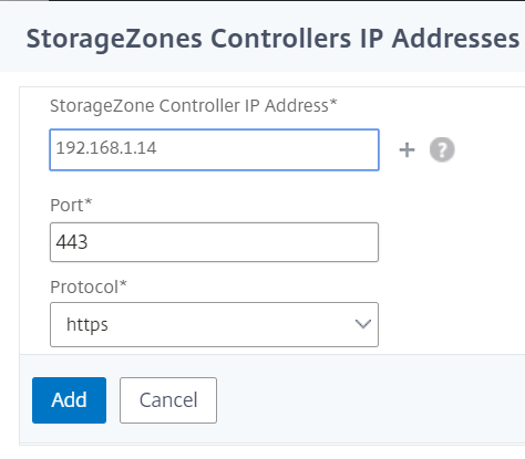 NetScaler for ShareFile - Configure StorageZone Controller