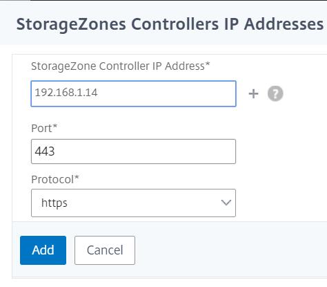 NetScaler for ShareFile - Configure StorageZone Controller